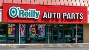 The front of an O'Reilly Auto Parts (ORLY) store.
