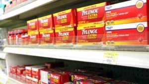 store shelf filled with tylenol (JNJ stock)