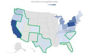 Rite Aid store coverage in the U.S.