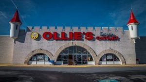 The exterior of an Ollie's Bargain outlet retail location