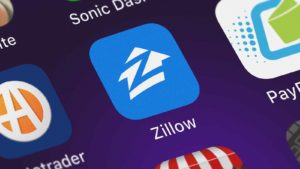 zillow app icon on a mobile phone