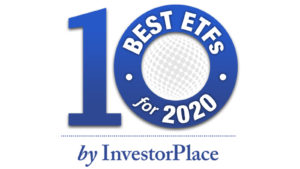 an image that says 10 best ETFs of 2020
