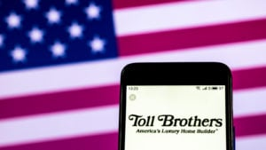 Toll Brothers (TOL) Home construction company logo seen displayed on smart phone