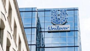 unilever (UL) logo on a corporate building