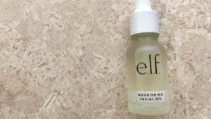 an elf branded beauty product on a stone counter