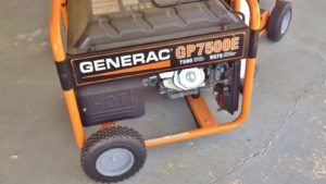 a generac machine on wheels