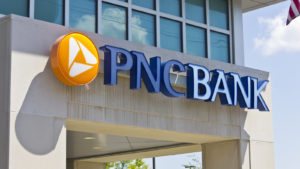 PNC bank logo on building