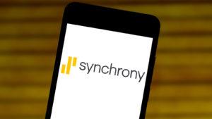 Synchrony Financial logo displayed on a phone
