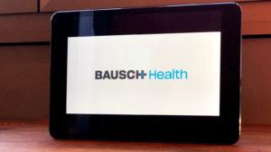 Bausch Health (BHC) logo on a screen
