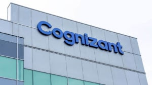 Cognizant Technology Solutions logo on a corporate building
