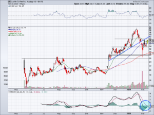 chart of LK stock