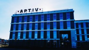 An Aptiv (APTV) office building in Poland.