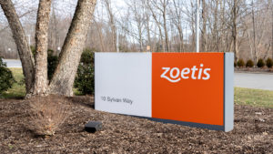 Zoetis (ZTS) sign outside the company's headquarters