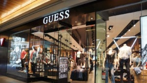 A Guess (GES) store in a shopping mall