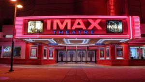 the exterior of an Imax theater