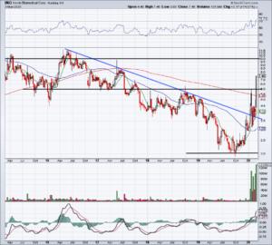 Chart of INO stock
