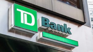 Toronto-Dominion (TD) Bank logo on building
