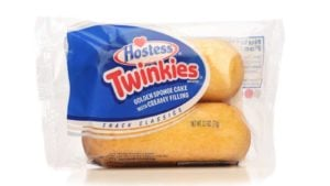 A package of two HA package of two Hostess Twinkies