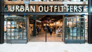 The exterior of an Urban Outfitters (URBN) store in London, England.