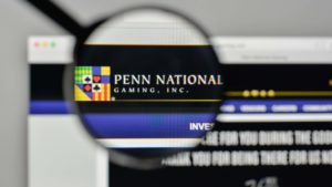 Logo National Gaming Penn (PENN) di homepage website.