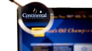 Continental Resources Inc logo visible on display screen