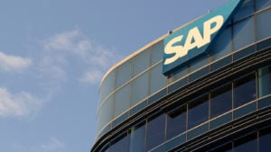 he SAP sign is seen at SAP SuccessFactors Global Headquarters in South San Francisco, California
