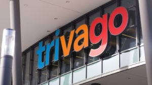 the trivago (TRVG) logo on a building