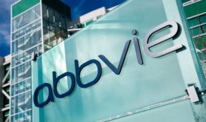Abbvie logo outside of a building