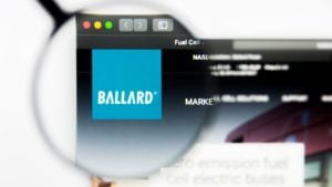 Ballard Power Systems Inc logo visible on display screen