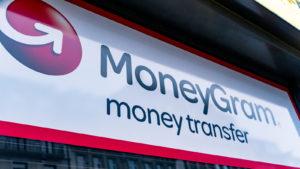 A MoneyGram sign.