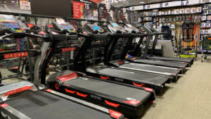 Nautilus branded treadmills in a gym