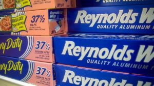 A picture of multiple Reynolds (REYN) wrap containers on a store shelf