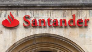 satander (SAN) logo on building