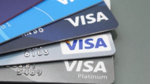 several Visa (V) branded credit cards