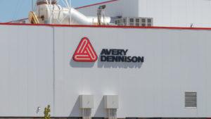 Avery Dennison (AVY) logo on building