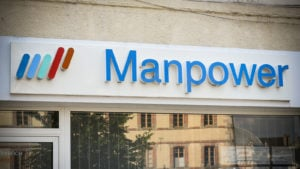 Manpower Group (MAN) logo on a corporate building