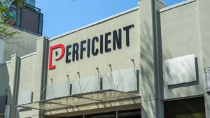 Perficient (PRFT) sign above a Perficient office in Lafayette, Louisiana.