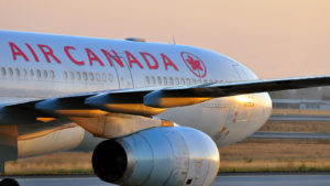 image of air canada airplane