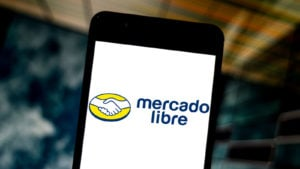 MELI - Mercado Libre homepage on a smartphone