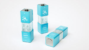 A 3D render of hydrogen fuel cells to represent PLUG stock