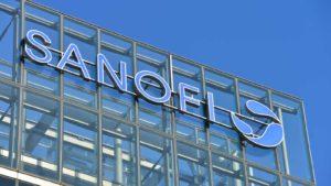 Sanofi (SNY) logo on the side of company branch in Germany