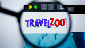 TravelZoo website zoomed in on the logo