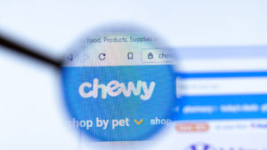 chewy website zoomed in on the logo
