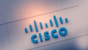the cisco (CSCO) logo on a wall