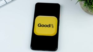 The GoodRx app is displayed on a mobile phone screen.