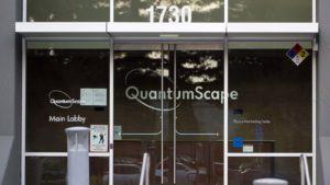 The headquarters of QuantumScape (Kensington Capital) in San Jose, California.