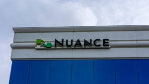 the Nuance (NUAN) logo on a building