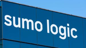 The Sumo Logic sign on the company headquarters in Silicon Valley, California.