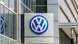 A Volkswagen (VWAGY) logo on a sign in Turkey.