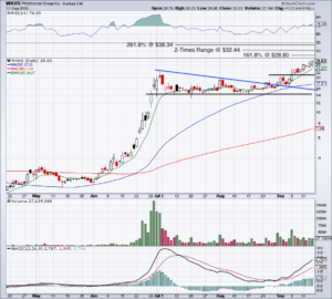Daily chart of WKHS stock